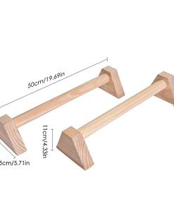 Parallettes Wooden P5895 | Workout-Calisthenics 4
