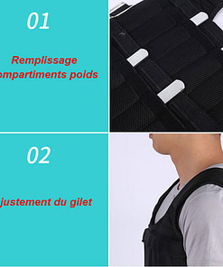 Gilet Lesté 30 Kg L357 Installation | DesignYou-Calisthenics