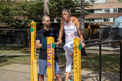 Exercice Street Workout - Dips barre Parallèles