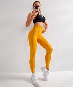 Legging Sport Jaune Fluo WSL200107 | Workout-Calisthenics - 2