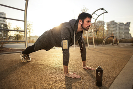 Exercice Street Workout - Pompes push up