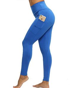 Legging Sport Avec Poche Pour Telephone PWSL200403 Gris Bleu | DesignYou-Legging