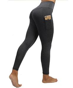 Legging Sport Avec Poche Pour Telephone PWSL200403 Gris Foncé | DesignYou-Legging